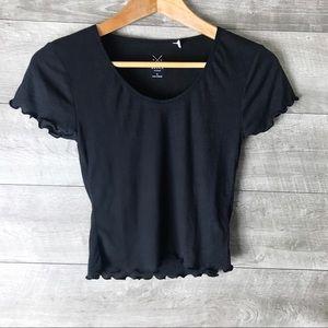 NEW PacSun black short sleeve tee shirt crop top
